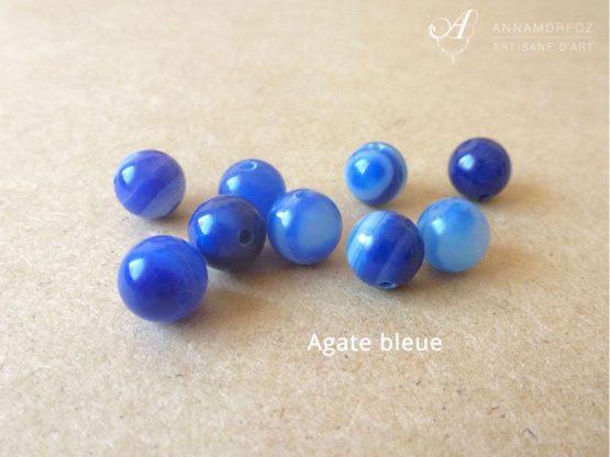 perles en agate bleue pour les bijoux borromeo