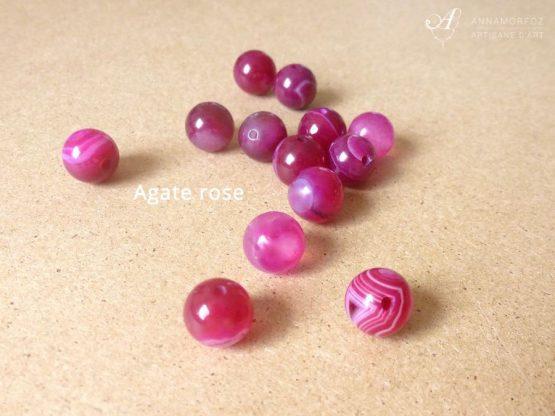 perles en agate rose pour les parures borromeo