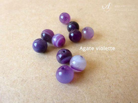 pierres en agate violette pour les bijoux borromeo