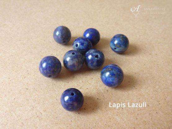 Perles en lapis lazuli pour vos bijoux Annamorfoz