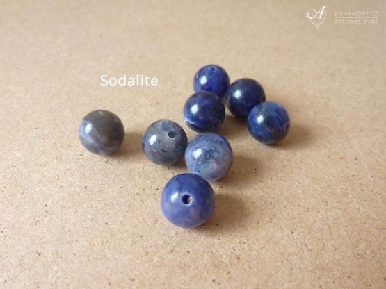 Perles en sodalite bleu gris pour vos bijoux Annamorfoz