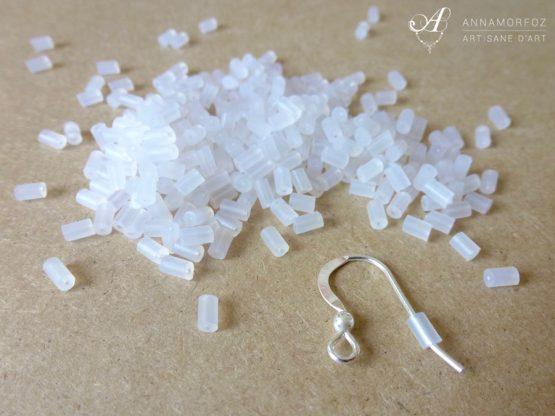 Embouts poussoirs tubes pour boucles d'oreilles