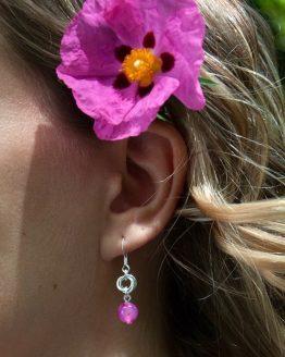 Boucles d'oreilles Borromeo en agate rose par Annamorfoz