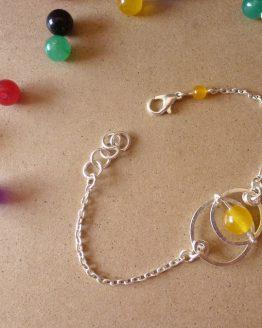 Bracelet Astro en jade jaune par Annamorfoz