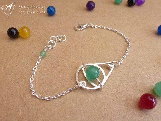 bracelet fait main en jade vert