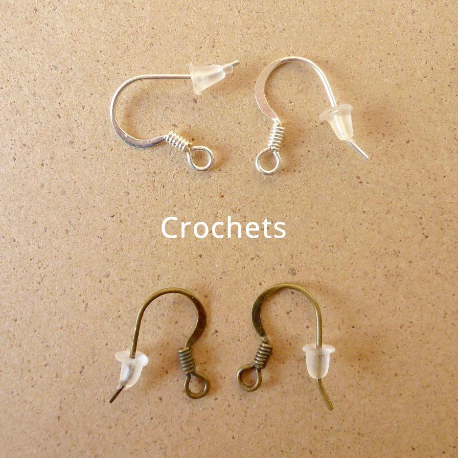 Crochets en métal argenté ou couleur bronze pour les boucles d'oreilles Annamorfoz