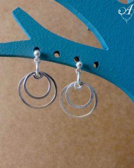 boucles d'oreilles cercles avec clous boucles d'oreilles perspective par Annamorfoz