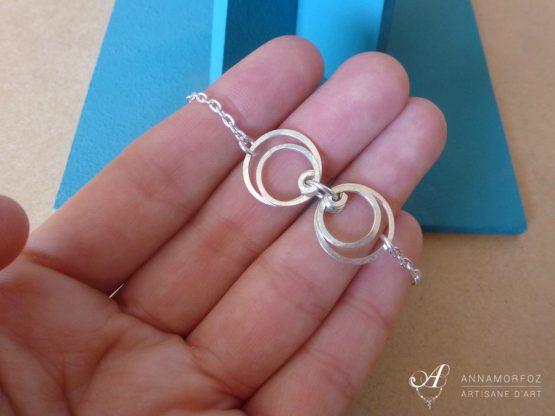 bracelet fin cercles boucles d'oreilles perspective par Annamorfoz