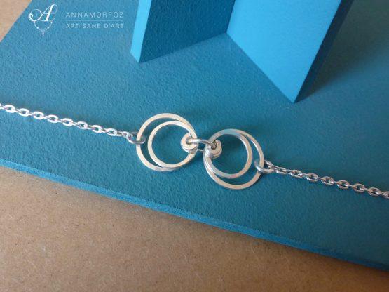 bracelets cercles symétrique boucles d'oreilles perspective par Annamorfoz