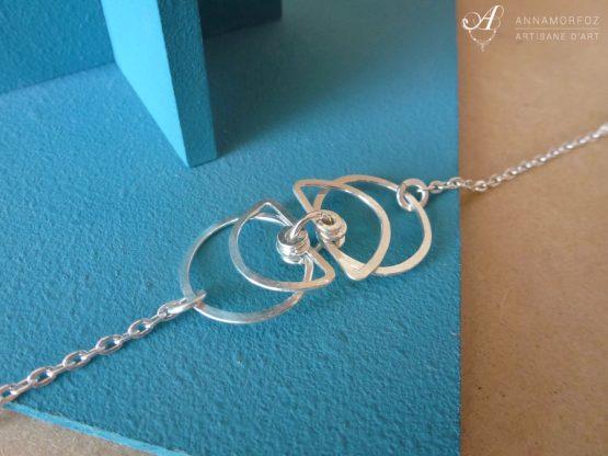 bracelet fin symétrique boucles d'oreilles perspective par Annamorfoz
