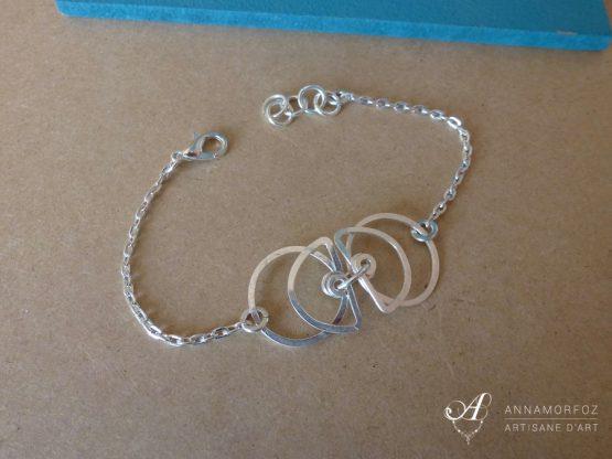 bracelet fin perspective boucles d'oreilles perspective par Annamorfoz