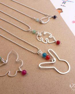 colliers avec pendentifs animaux faits à la main à Strasbourg par Annamorfoz
