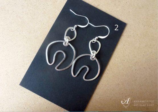 boucles d'oreilles pendantes artisanales