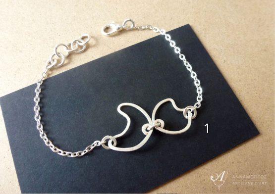 bracelet fin argenté soldé à -70%