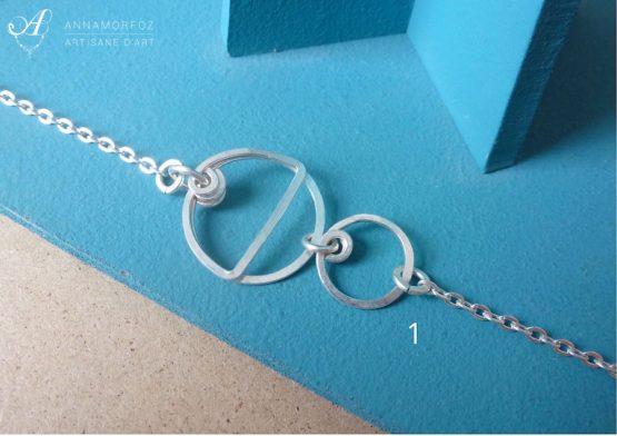 bracelet fin fait main en plaqué argent