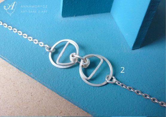 bracelet géométrique cercles et demi cercles