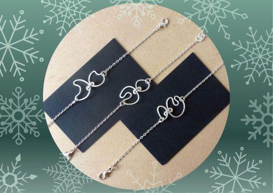 bracelets fins abstraits