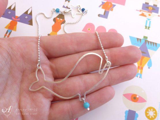 collier plastron baleine