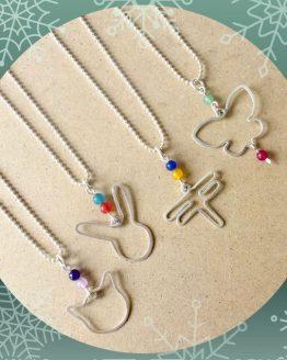 colliers animaux pour adultes et enfant faits mains
