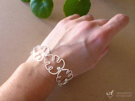 bracelet feuilles de monstera