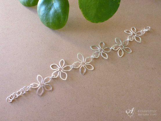 bracelet fleurs tropicales