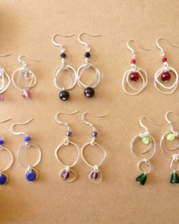 boucles d'oreilles de la collection Galets
