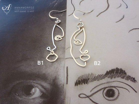 boucles d'oreillles Visages