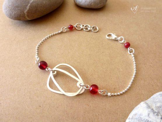 bracelet ovale rouge