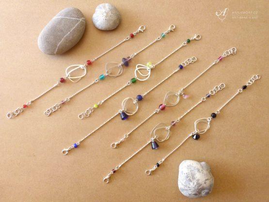 bracelets galets par Annamorfoz